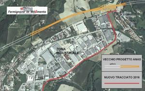 Particolare del tracciato nella zona industriale